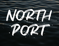 NORTH PORT - ALL CAPS BRUSH FONT