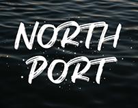 NORTH PORT - ALL CAPS BRUSH FONT