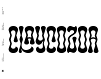 Claycozoa - Psychedelics font