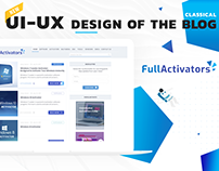 "Web-design for Blog ""FullActivators"""