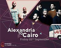 poster formashrou' leila&shrmoofers & EL-Morabba3 band
