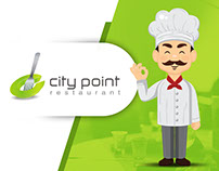 City Point Restaurant Creative Logo Designing