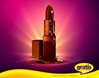 Gratis Cosmetic Market Chocolate Lipstick Key Visual