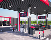 "Creation of petrol station ""Victoria"" visual design."