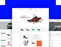 Shoes multipurpose E commerce PSD template