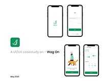A UI/UX case study - Wag On