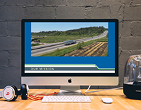 Website for a trucking company
