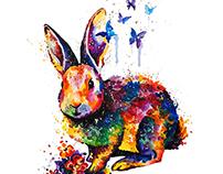 Rainbow bunny