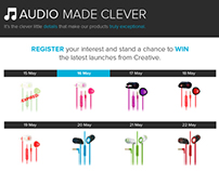 Creative Labs Microsite - Register and Win
