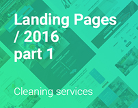 Landing Pages of cleaning services.