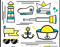Sailors icon set