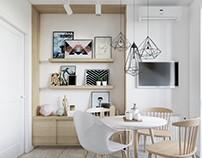 brick&white interior