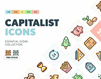 Capitalist Flat Icons by Pixelbuddha