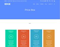 Price Box Element - Edge WordPress Theme