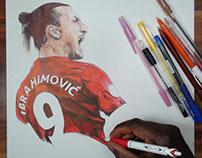 Zlatan Ibrahimovic Ballpoint Pen Drawing
