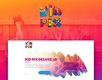 Kid Pix concept Landing Page