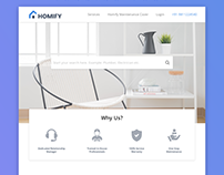 Home Services Landing Page:Unused Design