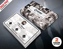 Wedding Photographer Business Card Design PSD