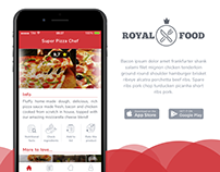 Concept for Royal Food App - UX/UI Design