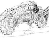 Futuristic Honda Chopper