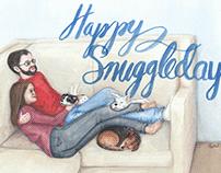 Happy Snuggledays Holiday Card