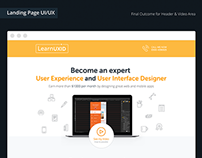 Learnuxid Landing Page Design