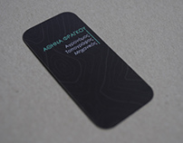 Athina Fragou: Business card design (2013)