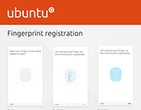 Ubuntu Fingerprint registration