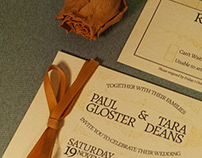 P&T Wedding Invitations
