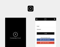 THENEWSTYLE Design App E-commerce Mobile