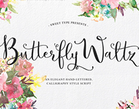 Butterfly Waltz Hand-lettered Typeface