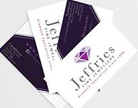 Jeffries Fine Jewellers - Business card design