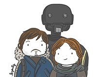Fan Art - Rogue One: Jyn Erso & Cassian Andor