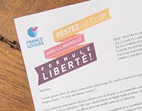 Courrier aux adhérents France Loisirs