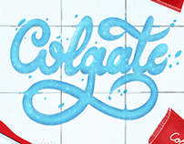 Colgate Toothpaste Lettering