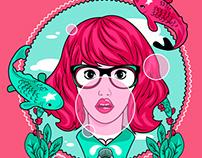Bershka: Bubblegum girl tshirt