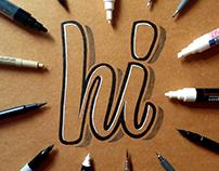 hand lettering on kraft paper 2