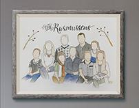 Custom Watercolor Family
