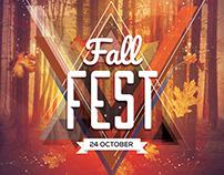 Fall Fest - Free Autumn PSD Flyer Template
