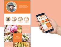 Web design // Les fleurs de Sophie