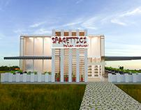 restaurant project  3dsmax-ps)