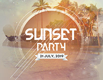 Sunset Party - Free PSD Flyer Template