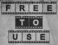 AC Filmstrip (Free Font)