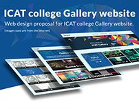 ICAT College Gallery website design