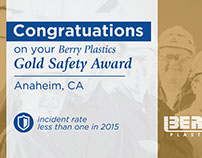 Berry Plastics Safety Award Banners