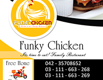 Funky chicken menu card