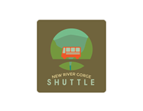 New River Gorge Shuttle Logo and Map Design