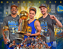 Golden State Warriors Team Champions 20x24