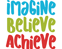 Back to School Freebie - Imagine Believe Achieve SVG