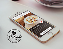 Delight Real coffee cafe Mobile app